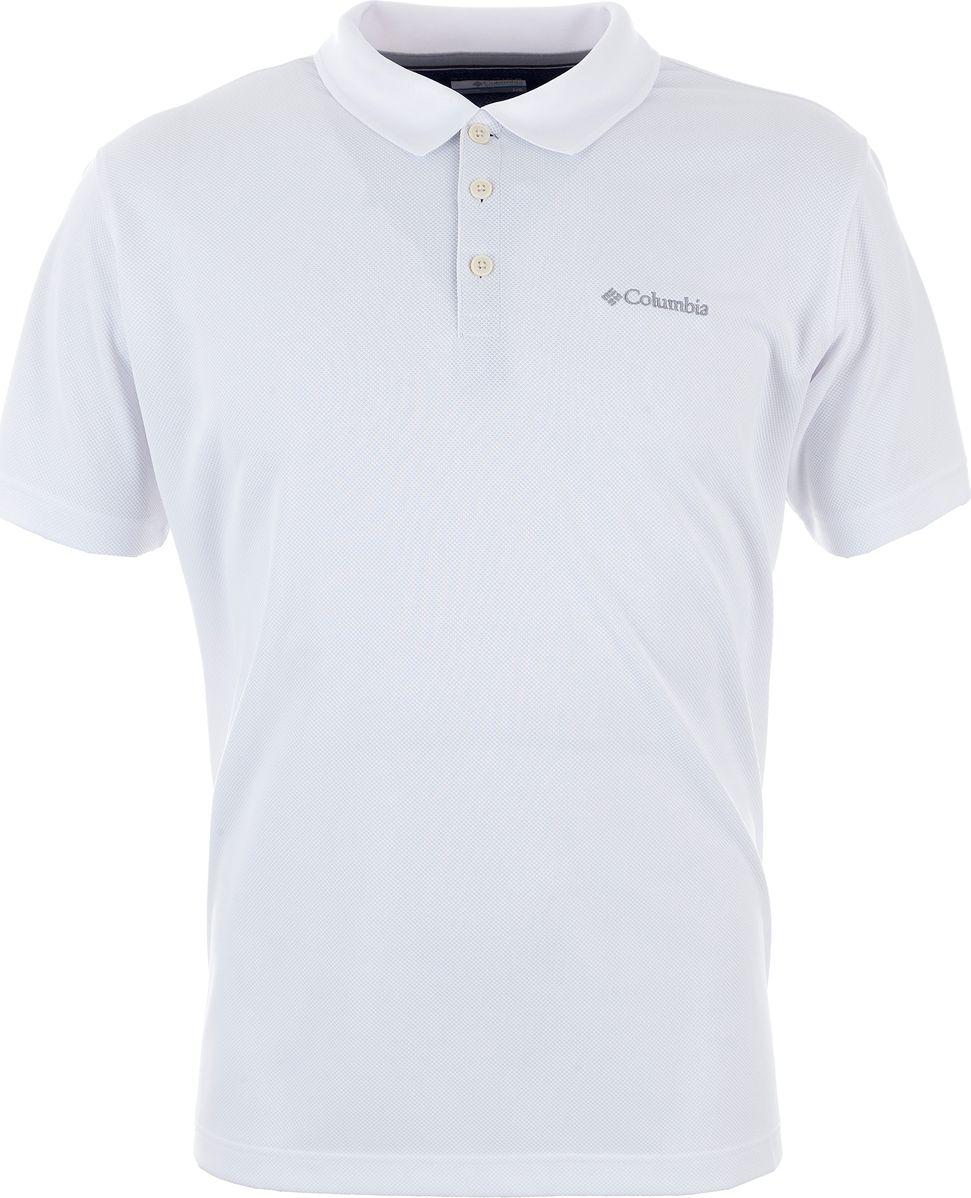 Поло мужское Columbia Utilizer Polo, цвет: белый. 1772051-100. Размер XXL (56/58) футболка поло columbia