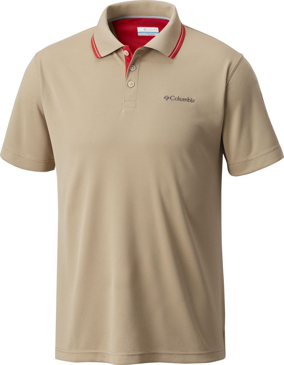 Поло мужское Columbia Utilizer Polo, цвет: бежевый. 1772051-265. Размер S (44/46) футболка поло columbia