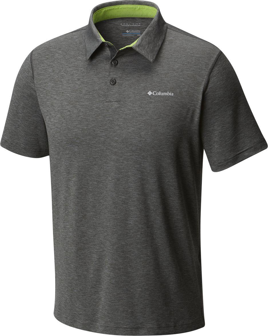 Поло мужское Columbia Tech Trail Polo, цвет: серый. 1768701-011. Размер S (44/46)