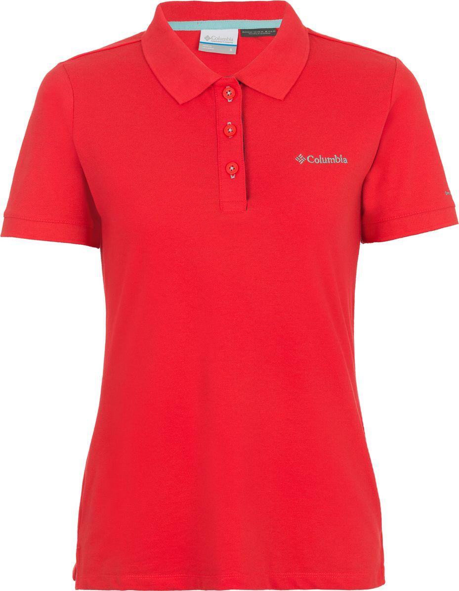 Поло женское Columbia Cascade Range Solid Polo W, цвет: красный. 1715481-653. Размер XS (42) футболка поло columbia