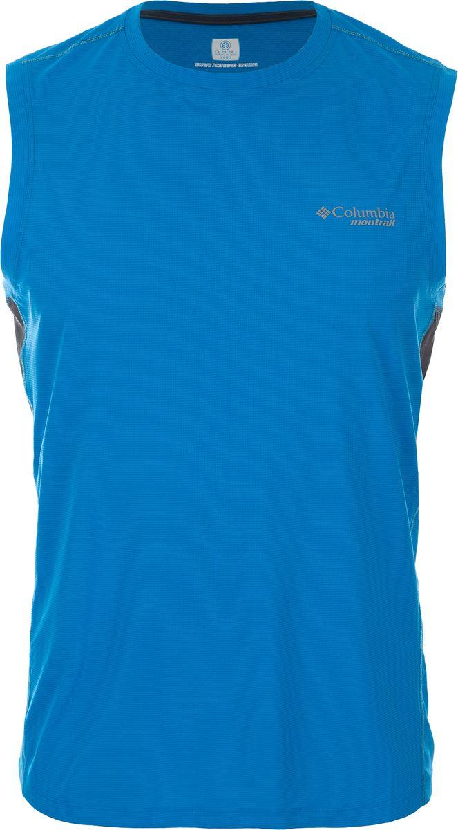 Купить Майка мужская Columbia Titan Ultra Sleeveless Shirt, цвет: синий. 1780451-491. Размер L (48/50)
