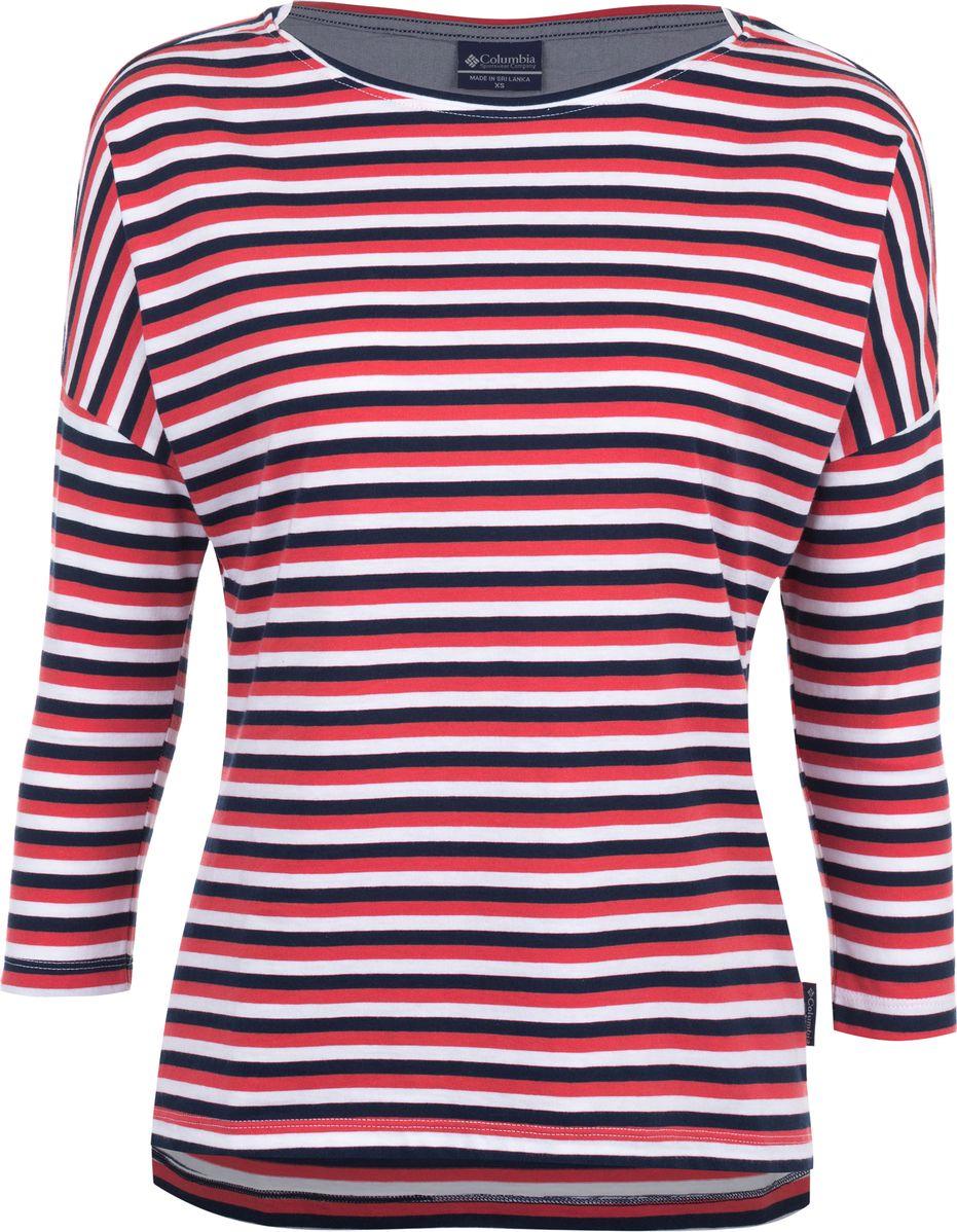 Лонгслив женский Columbia Harborside 3/4 Sleeve Shirt, цвет: темно-синий. 1709561-465. Размер XS (42) женский гардероб