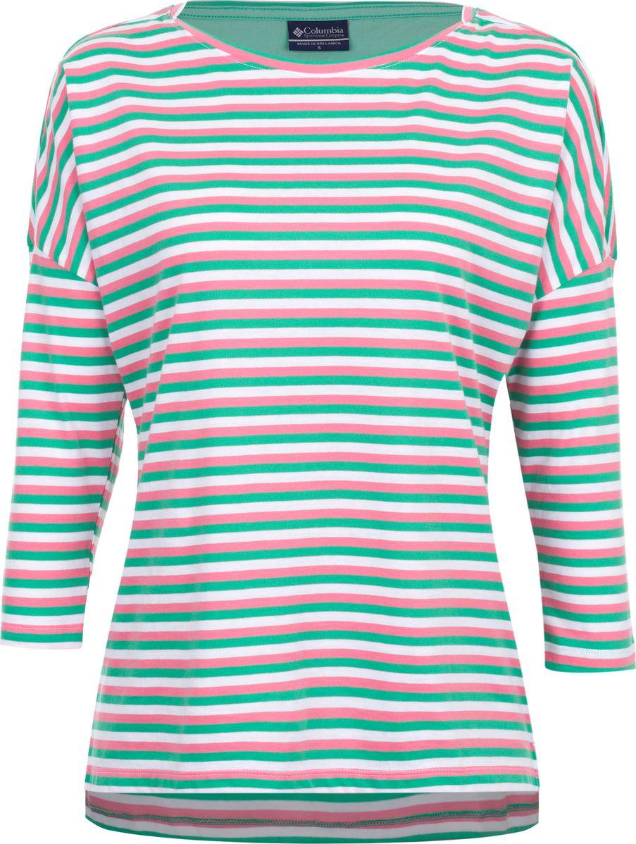 Лонгслив женский Columbia Harborside 3/4 Sleeve Shirt, цвет: зеленый. 1709561-674. Размер XS (42) женский гардероб