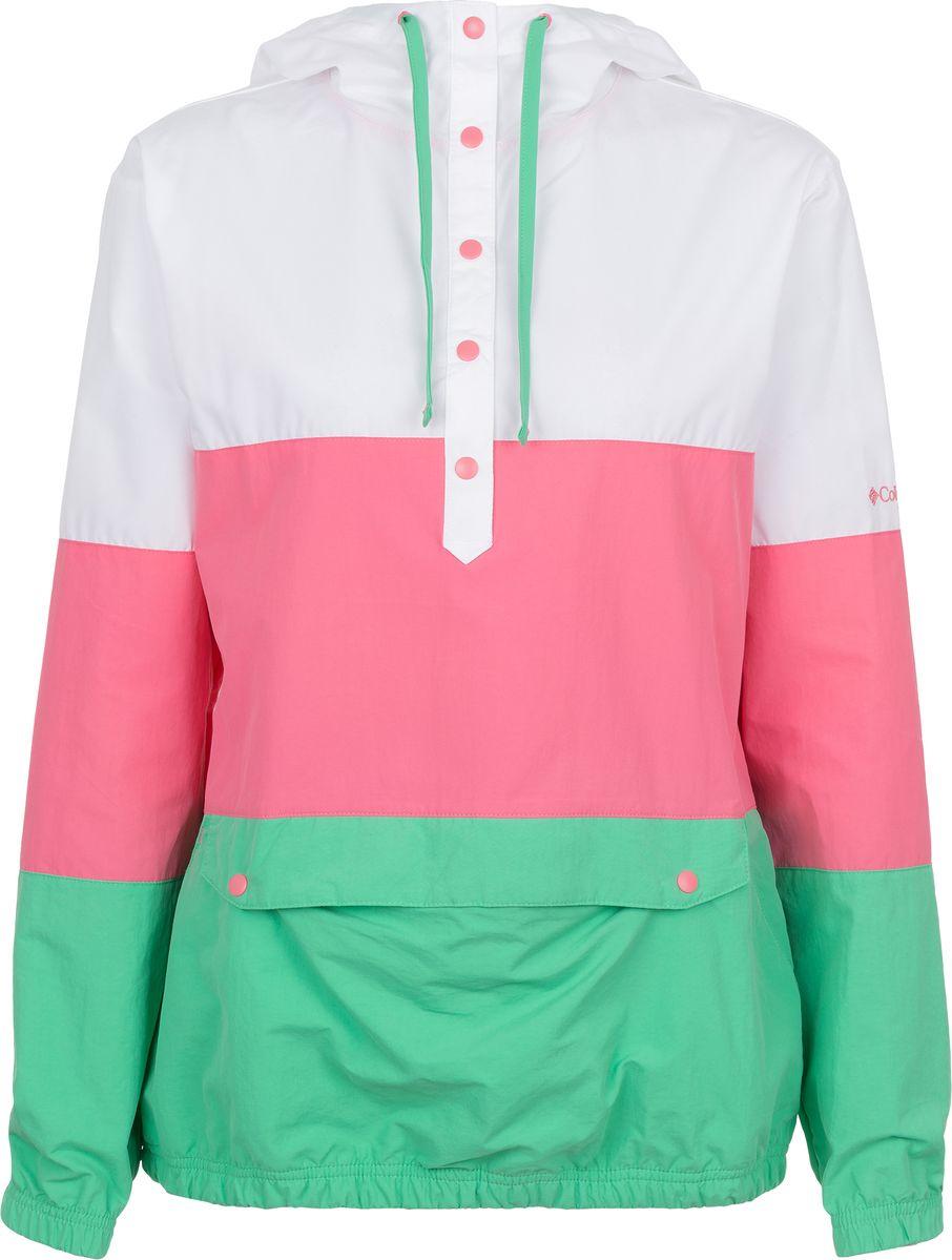Куртка-анорак женская Columbia Harborside Windbreaker, цвет: розовый. 1655041-675. Размер XS (42) платье columbia harborside woven sleeveless dress цвет синий розовый 1709571 485 размер m 46