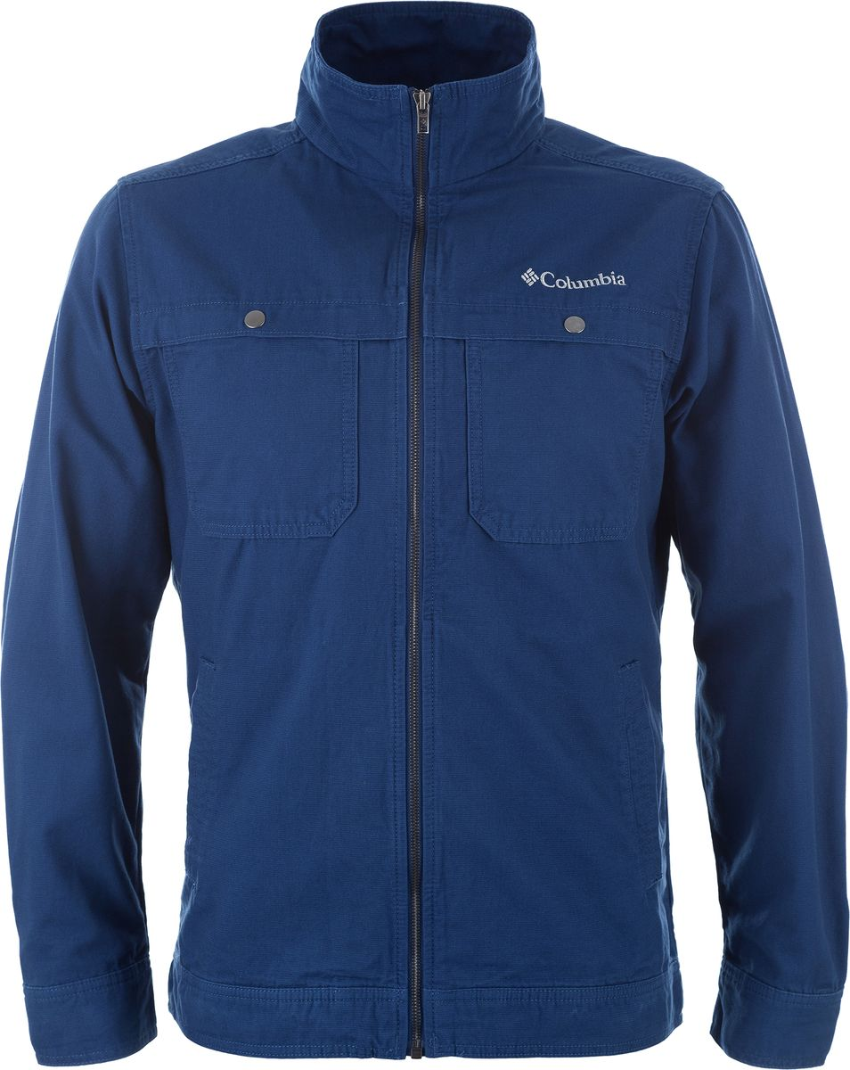 Ветровка мужская Columbia Tolmie Butte Jacket, цвет: синий. 1771521-469. Размер XL (52/54) columbia big girls horizon ride jacket