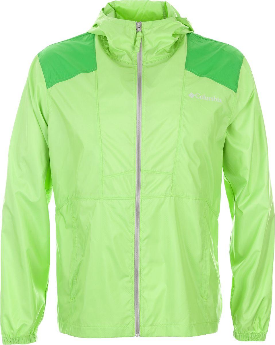 Ветровка мужская Columbia Flashback Windbreaker, цвет: зеленый. 1589321-352. Размер M (46/48)