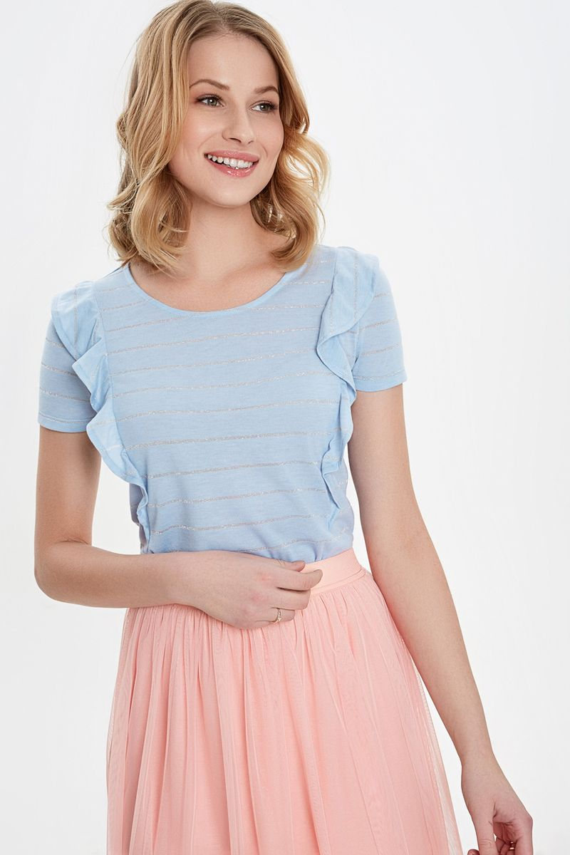 Блузка женская Concept Club, цвет: голубой. 10200110309_400. Размер XL (50) блузка женская concept club diany цвет белый 10200270181 200 размер xl 50