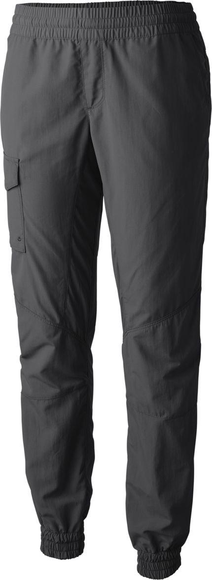 Брюки женские Columbia Silver Ridge Pull On Pant, цвет: серый. 1710631-011. Размер L (48)1710631-011Удобные зауженные брюки Columbia из быстросохнущего материала подойдут для походов и активного отдыха. Женские брюки изготовлены из ткани с защитой от УФ-лучей UPF 50. Модель со средней посадкой имеет эластичный пояс. На брюках предусмотрены карманы. Низ брючин собран на резинки.