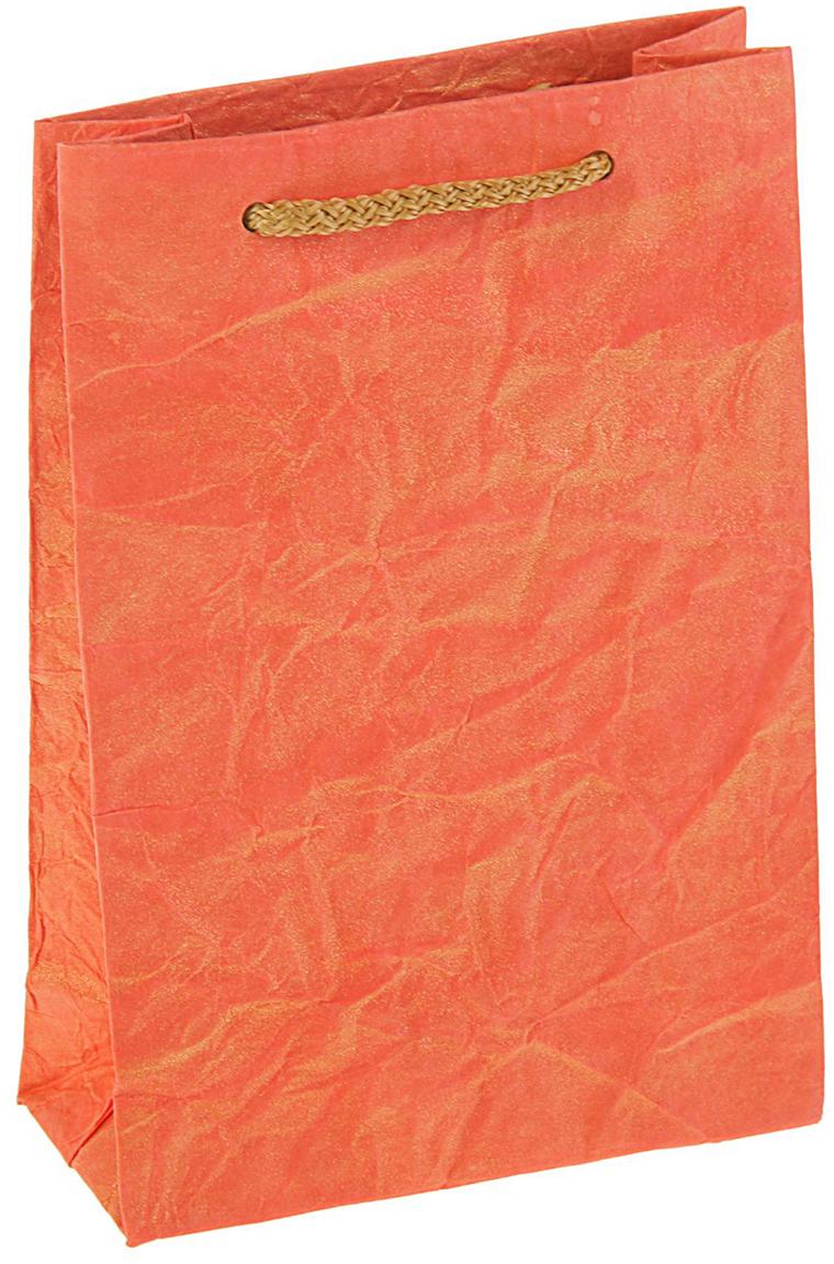 Пакет подарочный Дизайнерский, цвет: оранжевый, 18 х 12 х 5 см. 27280922728092Любой подарок начинается с упаковки. Что может быть трогательнее и волшебнее, чем ритуал разворачивания полученного презента. И именно оригинальная, со вкусом выбранная упаковка выделит ваш подарок из массы других. Она продемонстрирует самые теплые чувства к виновнику торжества и создаст сказочную атмосферу праздника - это то, что вы искали.