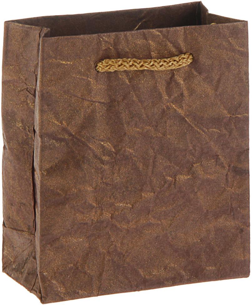 Пакет подарочный Дизайнерский, с напылением, цвет: коричневый, 11 х 9 х 4,5 см. 28569232856923Любой подарок начинается с упаковки. Что может быть трогательнее и волшебнее, чем ритуал разворачивания полученного презента. И именно оригинальная, со вкусом выбранная упаковка выделит ваш подарок из массы других. Она продемонстрирует самые теплые чувства к виновнику торжества и создаст сказочную атмосферу праздника - это то, что вы искали.
