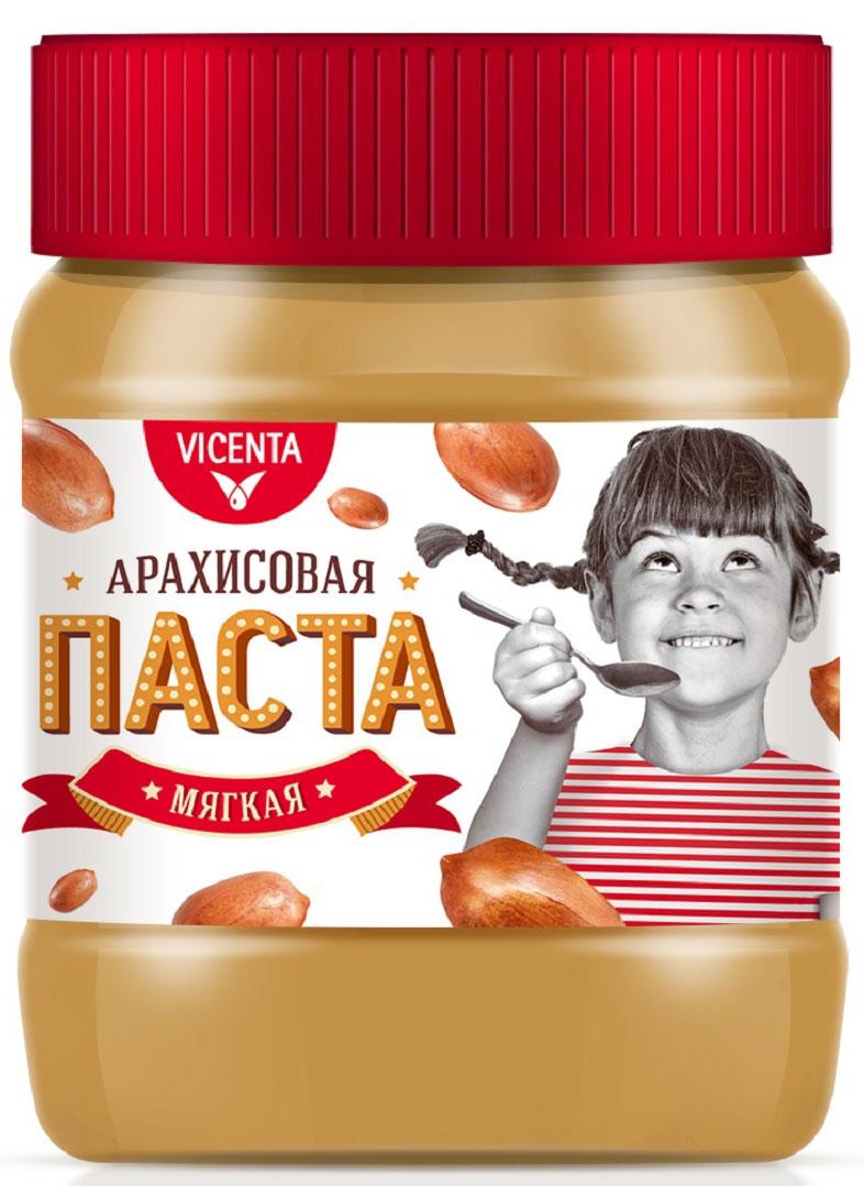 Vicenta Арахисовая паста мягкая, 340 г88219Натуральная арахисовая паста - густая, однородная с нежным вкусом. Источник натурального протеина.