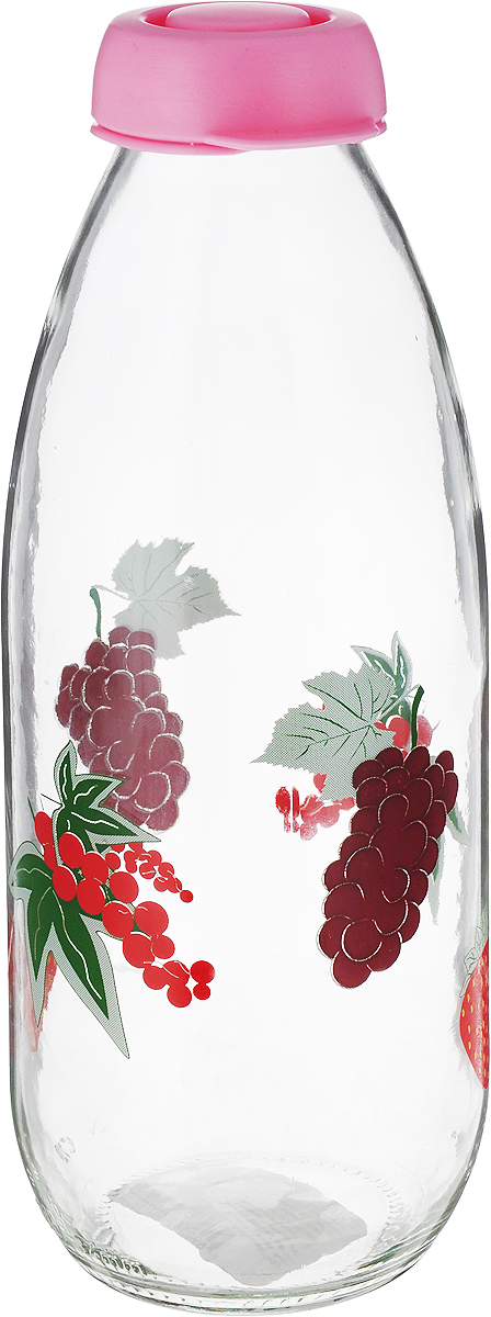 "Бутыль для молока ""Remmy Home"", цвет: розовый, прозрачный, 1 л"