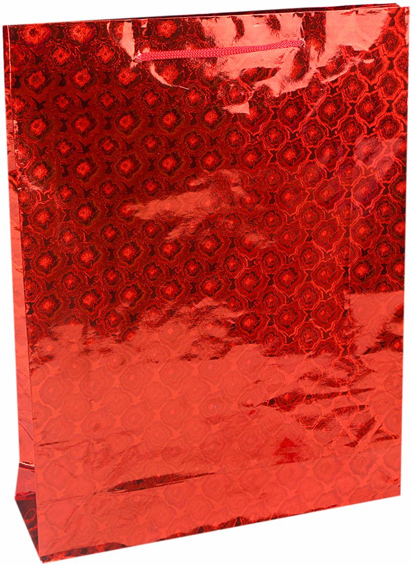 Пакет подарочный Цветочный, голографический, цвет: красный, 38 х 28 х 10 см. 18858901885890Любой подарок начинается с упаковки. Что может быть трогательнее и волшебнее, чем ритуал разворачивания полученного презента. И именно оригинальная, со вкусом выбранная упаковка выделит ваш подарок из массы других. Она продемонстрирует самые теплые чувства к виновнику торжества и создаст сказочную атмосферу праздника. Пакет голографический - это то, что вы искали.