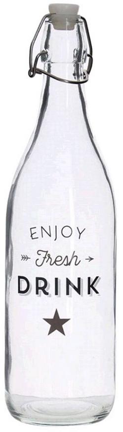 """Бутылка с пробкой """"Bistro"""" объемом  1л подойдет для разлива любой жидкости. Бутылка очень удобна в эксплуатации. Она отлично впишется в ваш кухонный интерьер."""