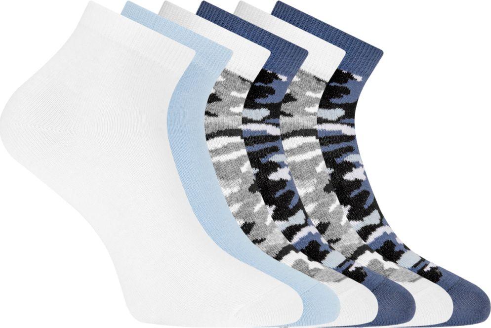 Носки женские oodji Collection, цвет: разноцветный, 6 пар. 57102418T6/47469. Размер 35/37 спортивные носки 6 пар quelle go in 643615