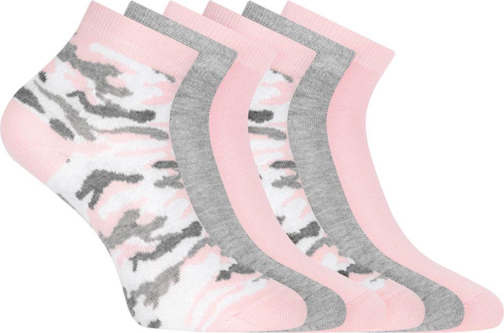 Носки женские oodji Collection, цвет: разноцветный, 6 пар. 57102418T6/47469. Размер 38/4057102418T6/47469/18Красивые и практичные укороченные носки от oodj в наборе из шести пар. Носки из хлопка с добавлением эластана приятны на ощупь, обладают прекрасными практическими характеристиками: позволяют коже дышать, впитывают влагу, приятны для тела. Благодаря добавлению эластана даже после многочисленных стирок носки не вытягиваются и отлично сохраняют первоначальную форму. В этих носках вашим ногам будет комфортно!С набором из шести пар вы всегда знаете, что у вас в запасе есть чистые носки. И сможете быстрее собираться, особенно если времени не хватает. Укороченные носки прекрасно подходят под джинсы или спортивные брюки. Они идеально сочетаются с кедами, кроссовками или ботинками. Стильные и комфортные носки станут отличным дополнением для вашей коллекции базовых вещей.