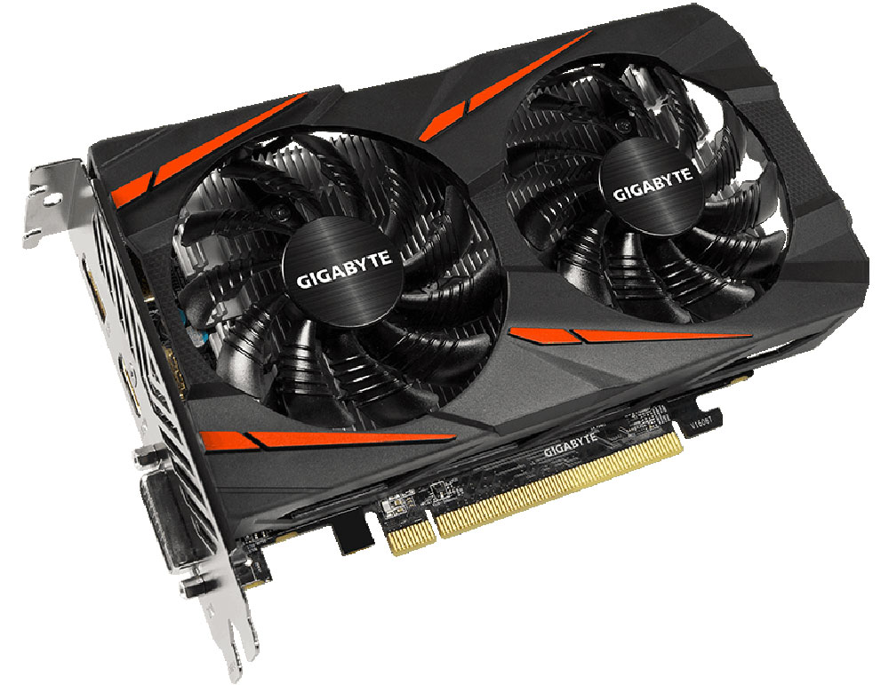 Gigabyte Radeon RX 560 Gaming OC 4GB видеокарта (Rev 2.0)GV-RX560GAMING OC-4GDВидеокарта Gigabyte Radeon RX 560 Gaming OC создана, чтобы удовлетворить все требования опытных игроков.Основано на решении AMD Radeon, архитектура GPU Polaris.Система охлаждения Windforce 2X оснащена двумя вентиляторами 80 мм с уникальным дизайном лопастей итехнологией прямого контакта. Это позволяет получить эффективный уровень теплорассеивания длявысокопроизводительной системы с низкой температурой.Уникальный дизайн лопастей вентилятораВоздушный поток эффективно отводится от радиатора с помощью вентиляторов, лопасти которых, имеютспециальные насечки и форму. Благодаря этим характеристикам удается достичь высокого уровня отвода тепла,при высоких нагрузках и низкой температуре. Тесты показали эффективность выше на 23%.3D Active FanИспользуется полупассивный режим работы, вентиляторы останавливают свою работу, если температура чипа невысокая, или нет достаточной нагрузки. Надежные и долговечные компонентыПри производстве карты используются дроссели и конденсаторы высокого качества, благодаря этому фактуграфическая карта обеспечивает выдающуюся производительность и долговечность системы. Как собрать игровой компьютер. Статья OZON Гид