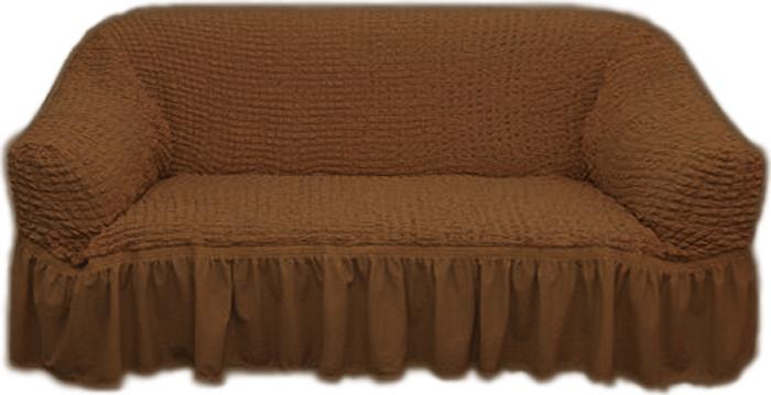 """Чехол для двухместного дивана """"МарТекс"""", цвет: коричневый. 05-0513-3"""