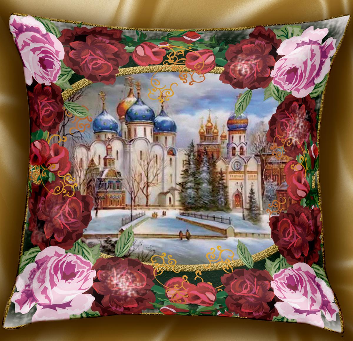 Декоративная подушка, рисунок выполнен методом фотопечати.  Наполнение - полое силиконизированное волокно Hollow Fiber.