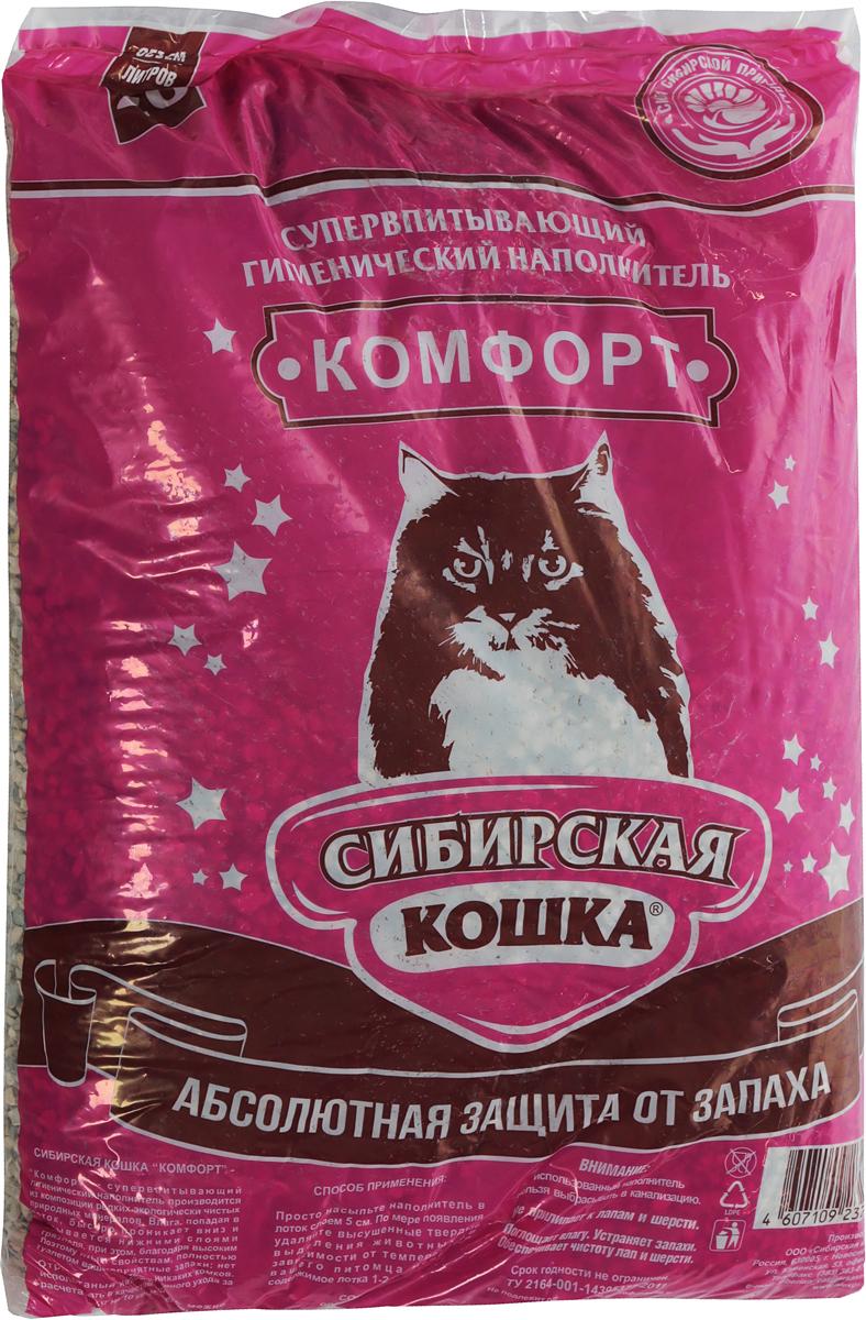 Наполнитель для кошачьих туалетов Сибирская Кошка  Комфорт , 20 л - Наполнители и туалетные принадлежности - Наполнители
