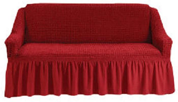 """Чехол для двухместного дивана """"МарТекс"""", цвет: бордовый. 05-0512-3"""