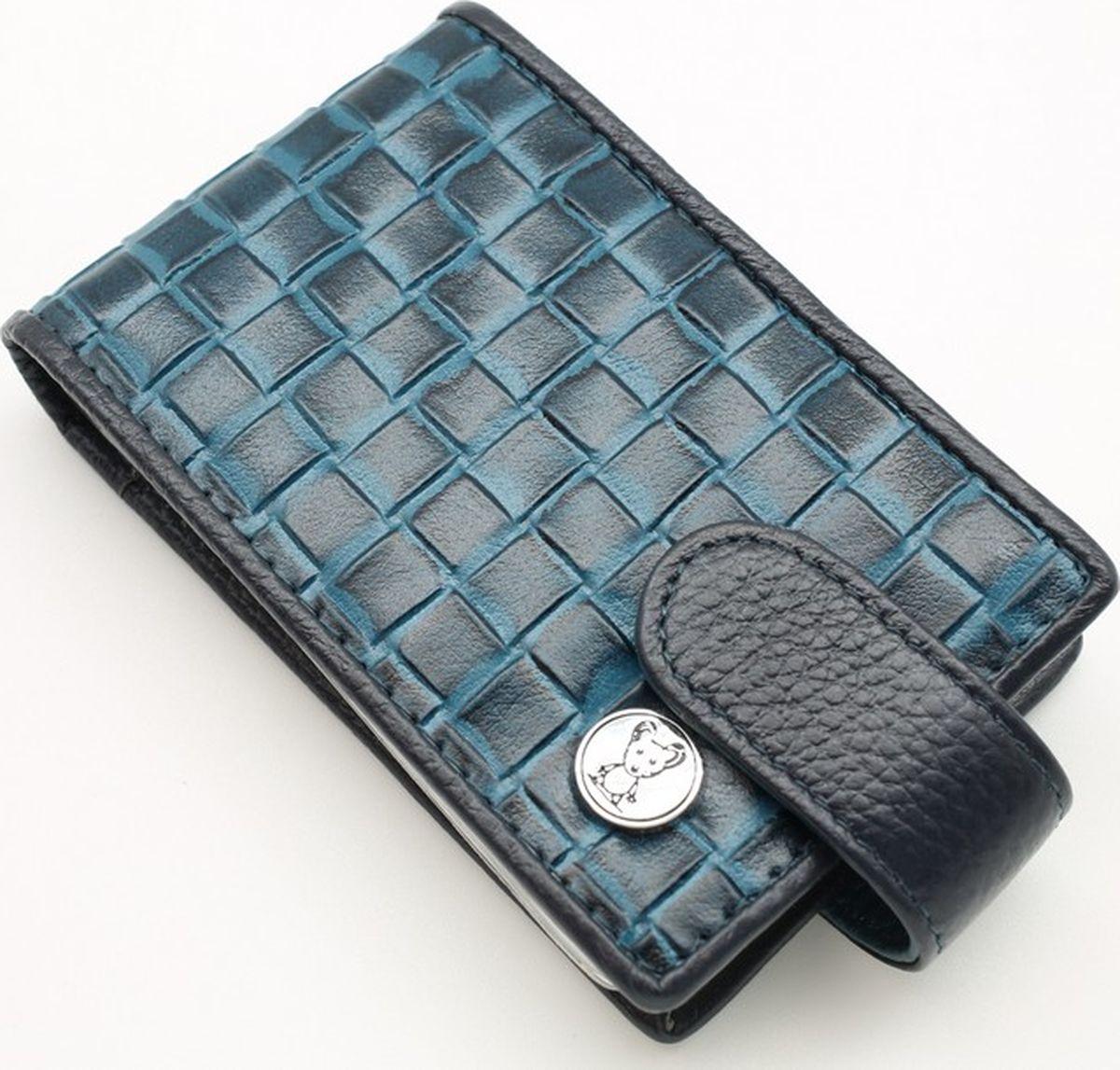 Визитница горизонтальная женская Topo Fortunato, цвет: синий. 4420-101