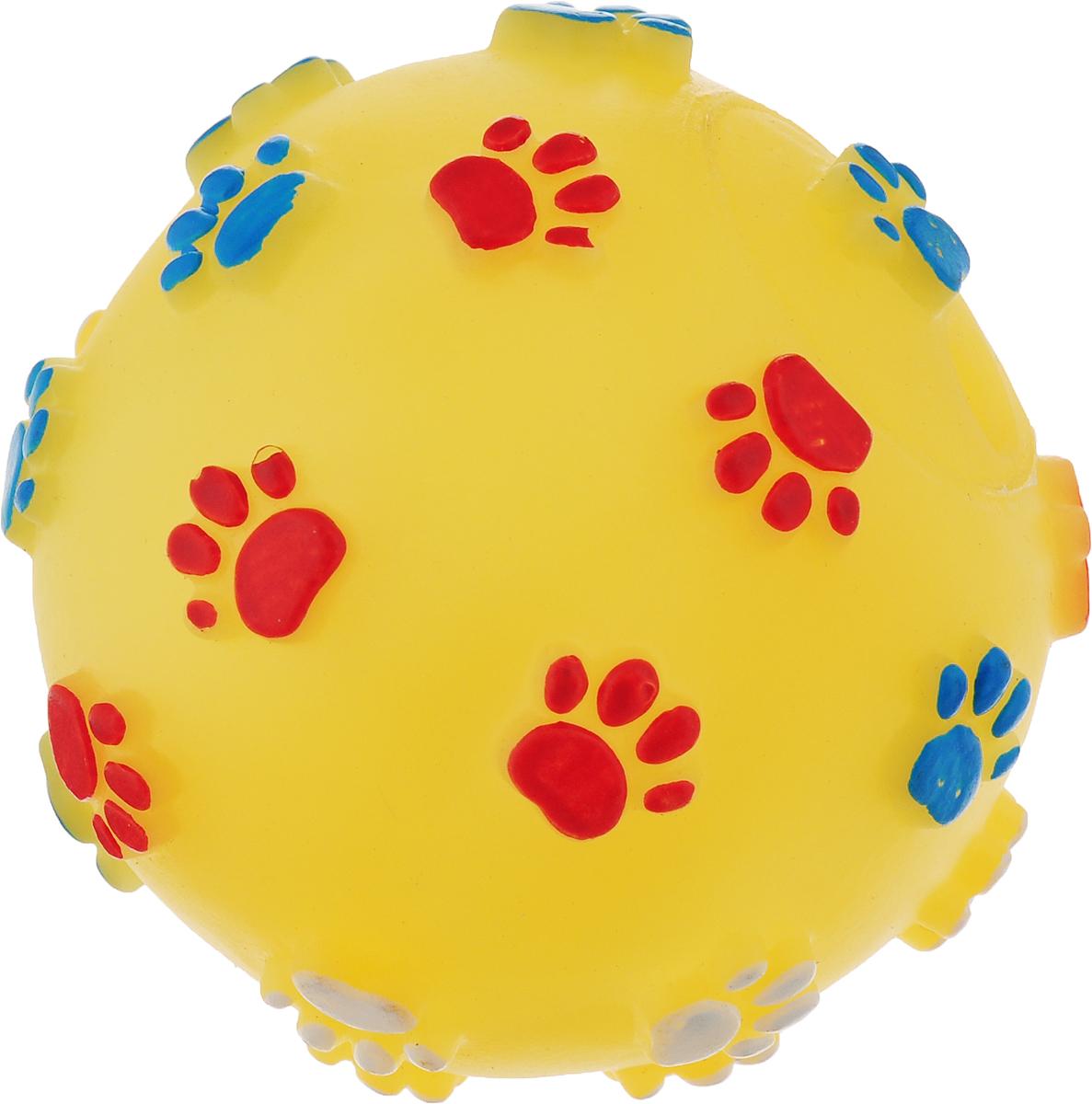Игрушка для собак Dezzie Мяч. Большие лапы, диаметр 7,5 см игрушка для собак dezzie косточка