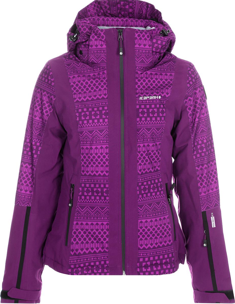 Куртка женская Icepeak, цвет: фуксия. 853115523IVX_750. Размер 38 (44) куртка женская icepeak цвет фуксия 853115523ivx 750 размер 38 44