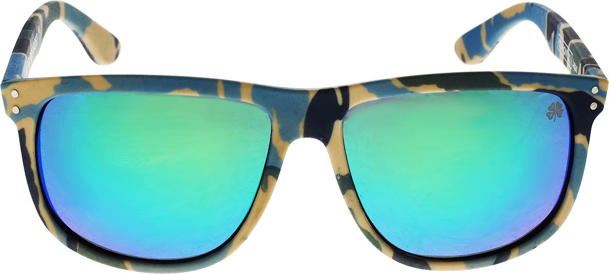 Очки поляризационные Yoshi Onyx, с зелеными линзами, цвет: синий камуфляж
