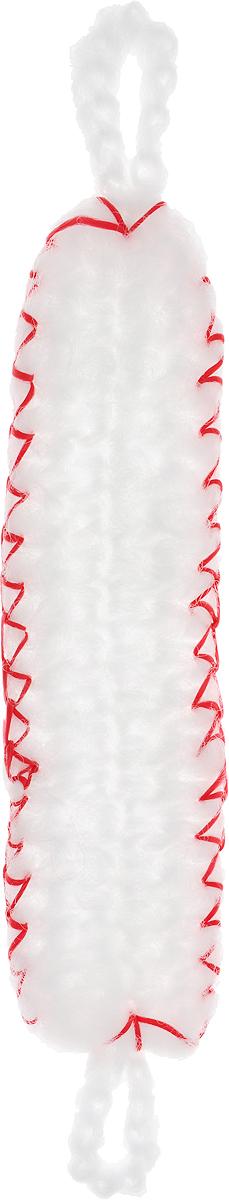 Мочалка Eva Облако, вязаная, цвет: белый, красный. М399 платье eva milano цвет красный черный горчичный