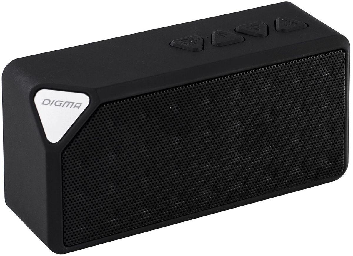 Digma S-20, Black портативная акустическая система плееры mp3 цены евросеть