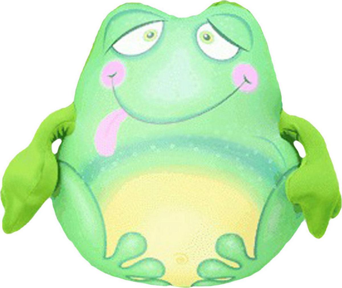 Подушка-игрушка антистрессовая Штучки, к которым тянутся ручки  Лягушонок Пончо . 13аси29гив - Мягкие игрушки