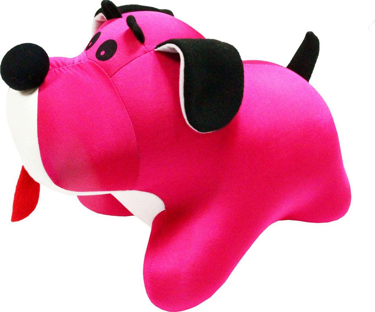 Подушка-игрушка антистрессовая Штучки, к которым тянутся ручки Пес Барбос, цвет: розовый, 33 см