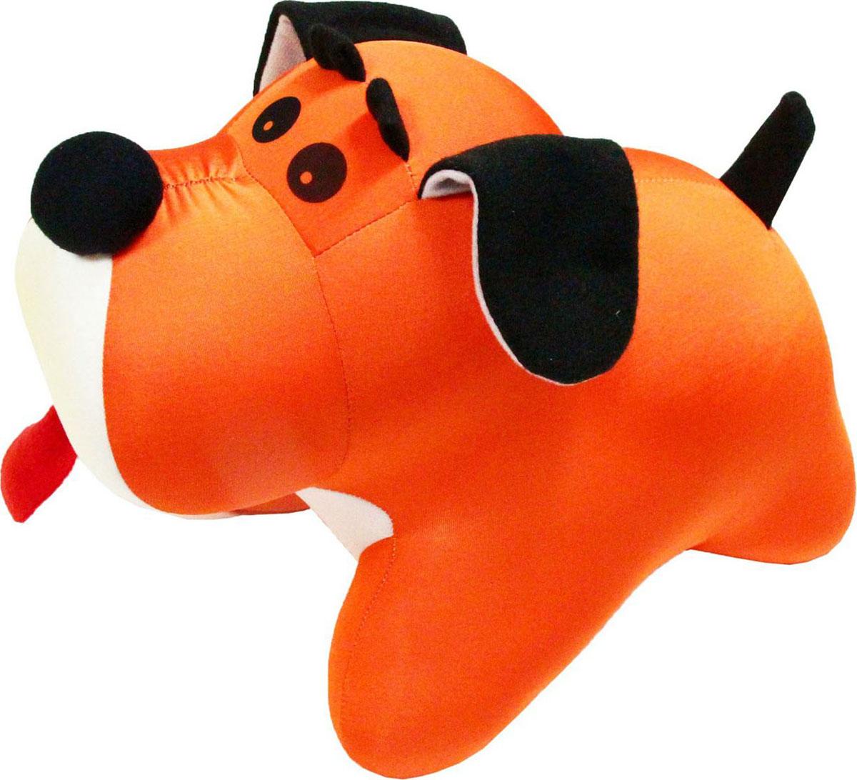 Подушка-игрушка антистрессовая Штучки, к которым тянутся ручки Пес Барбос, цвет: оранжевый, 33 см
