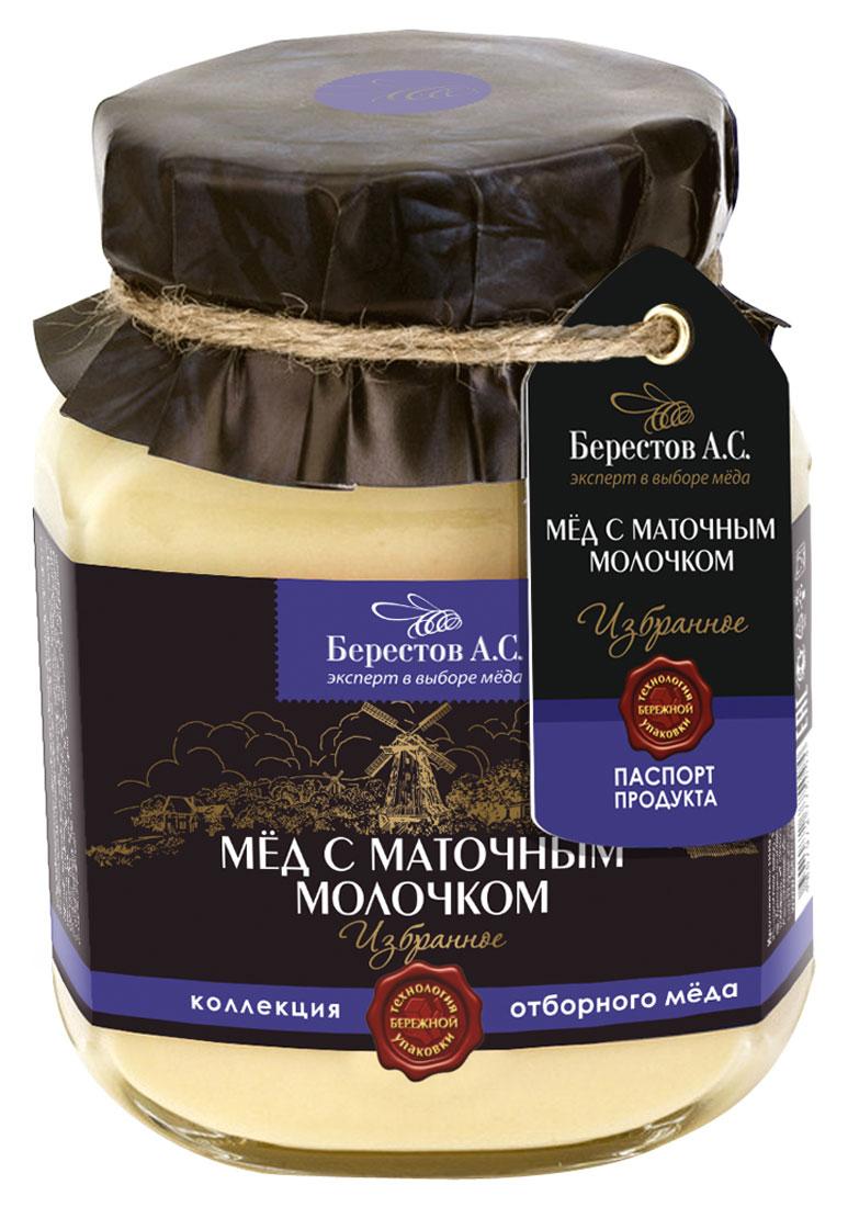 Берестов Мед с пчелиным маточным молочком, 500 г, Берестов А.С.