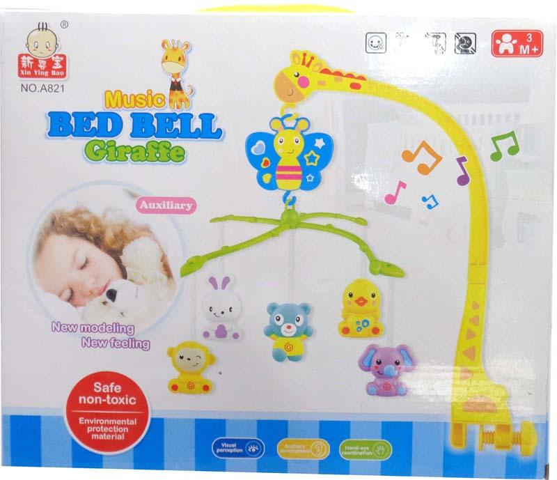 JUNnew Мобиль музыкальный для детской кроватки Жираф мобили weewise мобиль для детской кроватки окаеан