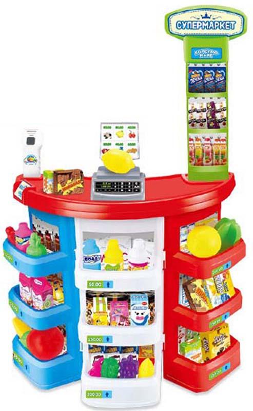 ABtoys Игровой набор Супермаркет Помогаю Маме 38 предметов игровой супермаркет звуковой с тележкой 17 предметов