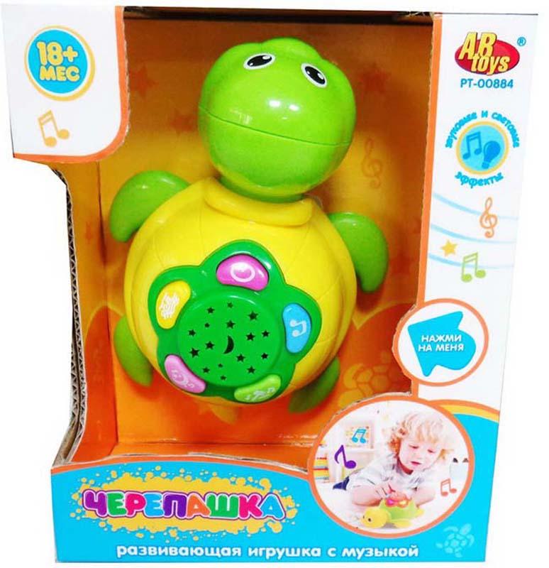 ABtoys Развивающая игрушка Черепашка со световыми и звуковыми эффектами abtoys 41 предмет