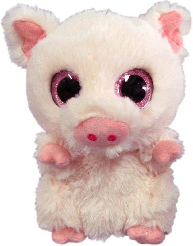 Teddy Мягкая игрушка Свинка цвет светло-розовый 15 см teddy мягкая игрушка собака в голубом пиджаке 18 см