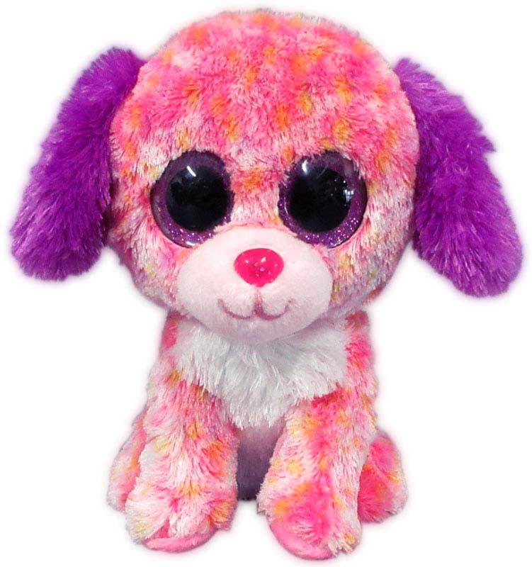Teddy Мягкая игрушка Собачка цвет светло-розовый 15 см teddy мягкая игрушка собака в голубом пиджаке 18 см