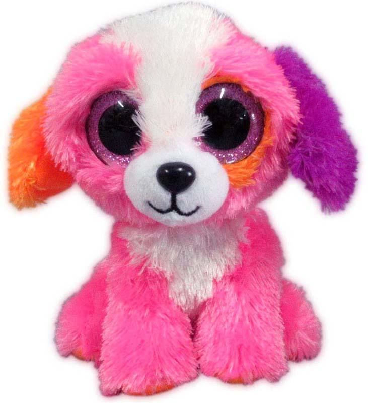 Teddy Мягкая игрушка Собачка цвет розовый 15 см teddy мягкая игрушка собака в голубом пиджаке 18 см