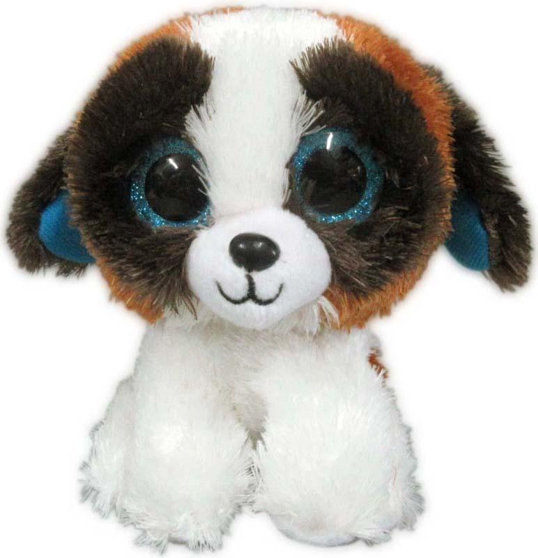Teddy Мягкая игрушка Собачка цвет белый коричневый 15 см teddy мягкая игрушка собака в голубом пиджаке 18 см