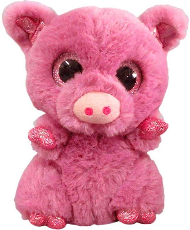 Teddy Мягкая игрушка Свинка цвет розовый 15 см teddy мягкая игрушка собака в голубом пиджаке 18 см