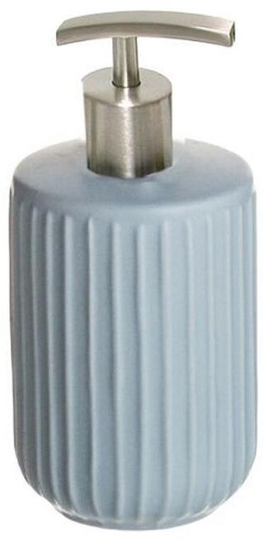 Дозатор для жидкого мыла D'Casa Manhattan, цвет: синий, 400 мл palm бежевый дозатор для жидкого мыла