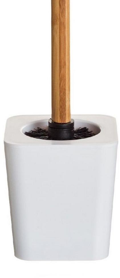 Ершик для туалета DCasa Bamboo, цвет: белый2293469Ершик туалетный DCasa - удобный функциональный аксессуар с подчеркнуто лаконичным дизайном. Основание изготовлено из прочного белоснежного пластика, легко очищается и имеет небольшой вес. Рукоятка ершика выполнена из бамбука.