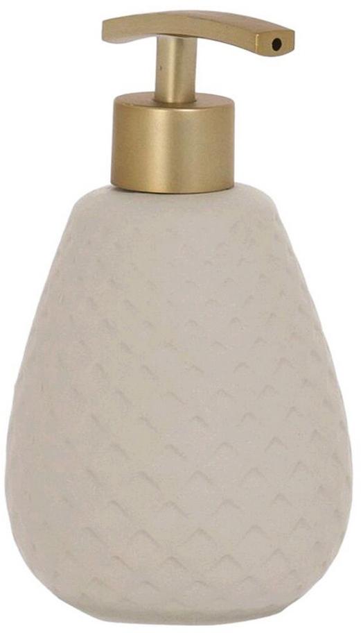 Дозатор для жидкого мыла  объемом 450 мл. Он изготовлен из керамики. Дозатор удобен в использовании и отлично впишется в интерьер вашей ванной комнаты.