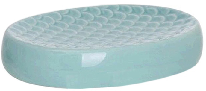 Мыльница Scale станет прекрасным украшением вашей ванной комнаты. Мыльница имеет приятный бирюзовый цвет. Изготовлена из керамики.
