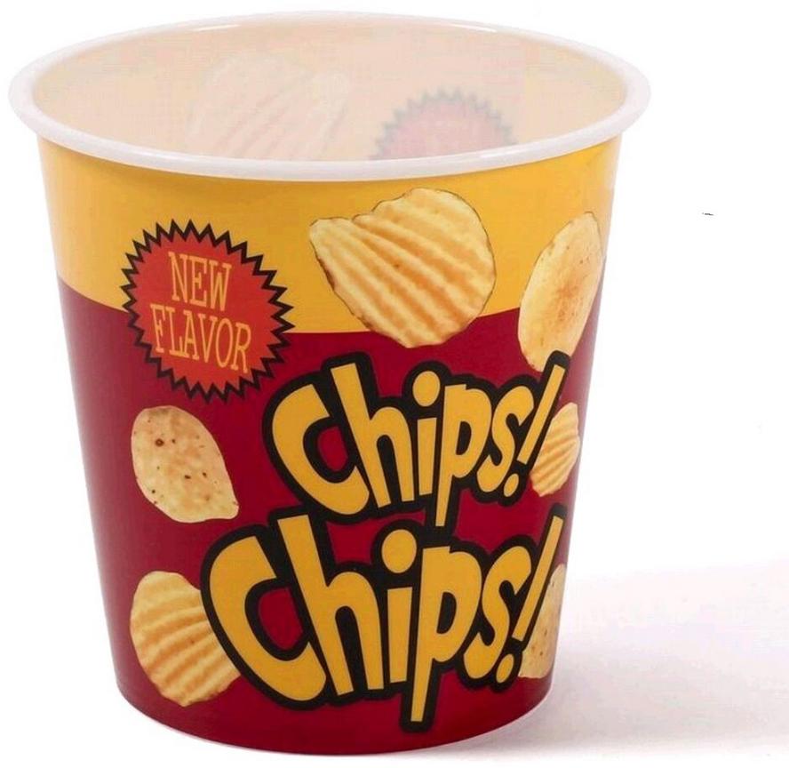 Стакан для чипсов DCasa Chips, 1,2 л247720Стакан DCasa Chips изготовлен из пищевого пластика и отлично подойдет для чипсов.