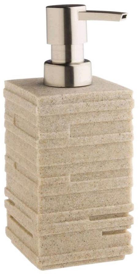 Дозатор для жидкого мыла объемом 350 мл. Он изготовлен из керамики. Дозатор удобен в использовании и отлично впишется в интерьер вашей ванной комнаты.