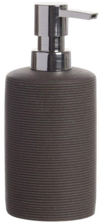 Дозатор для жидкого мыла DCasa Arena, цвет: темно-коричневый, 350 мл. 268449268449Дозатор для жидкого мыла объемом 350 мл. Он изготовлен из керамики. Дозатор удобен в использовании и отлично впишется в интерьер вашей ванной комнаты.